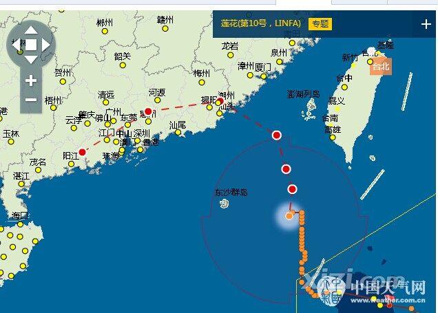 惠州气象台发布台风白色预警