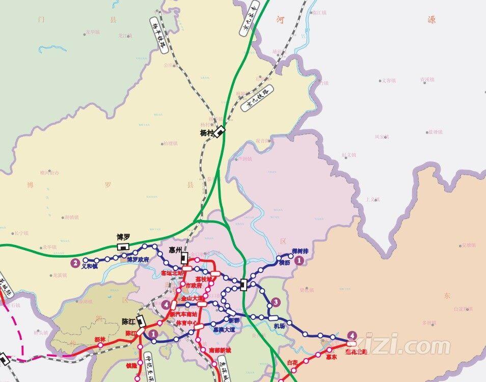 京九高铁规划图