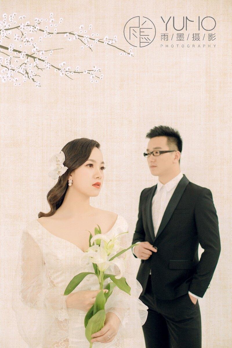 复古工笔画婚纱照 中国风