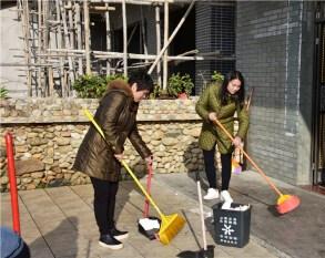 罗浮山职工走村入户,开展清洁活动迎新春