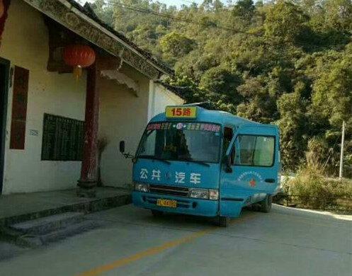 沙田金桔村终于通公交车了,以后去玩方便了