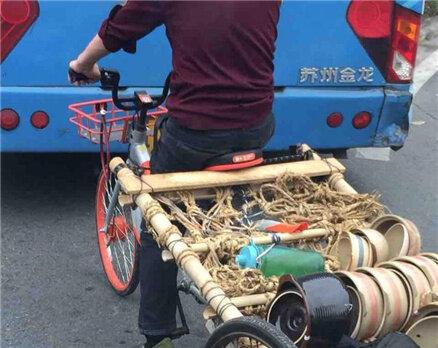 在河南岸车站看到,共享单车变成三轮车?
