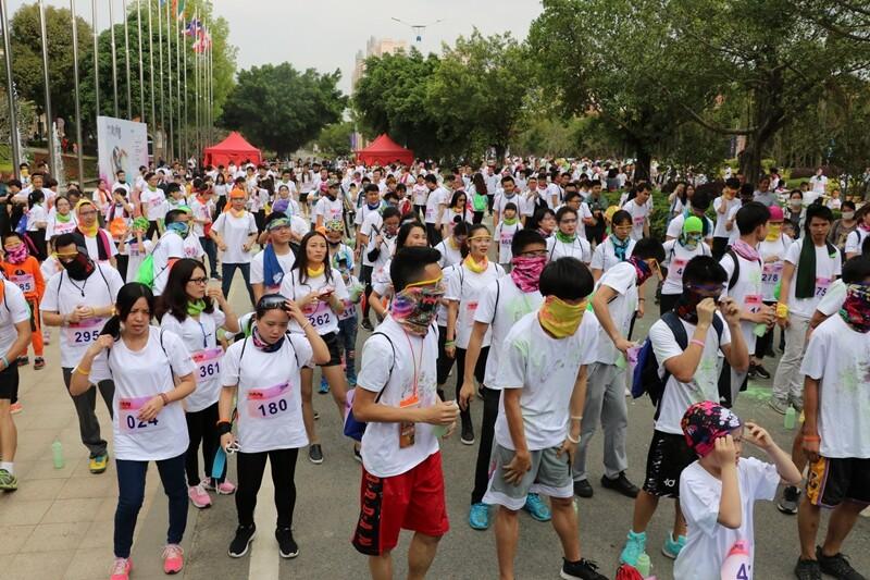 东江新城花漾跑盛大举行,你是什么颜色?