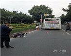 惠州大道公交与电动车相撞,一人疑不幸身亡
