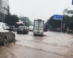 陈江曙光路整条路都被淹了,望过去全是水