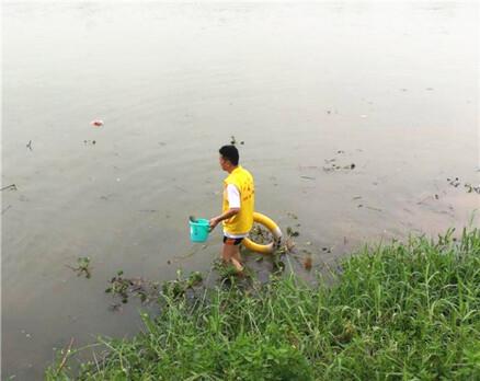 """这群人在东江边上""""捡垃圾"""",甚至还下水…"""