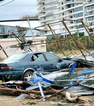 我在双月湾是渔民也是农民,因台风损失惨重