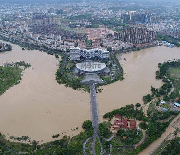 百米高空航拍下,看见台风后的淡水,好在惠阳有这群人...