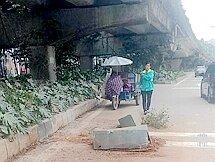 惠博大道高架桥花盆坠落,相关部门回应了