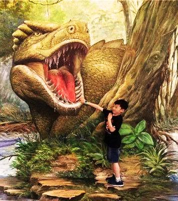 侏罗纪恐龙空降惠州,快带小孩体验骑恐龙吧