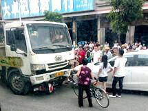 事发惠东平山,一大货车逆行撞倒电动车