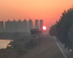美炸了!一大早特地跑去看火红的日出