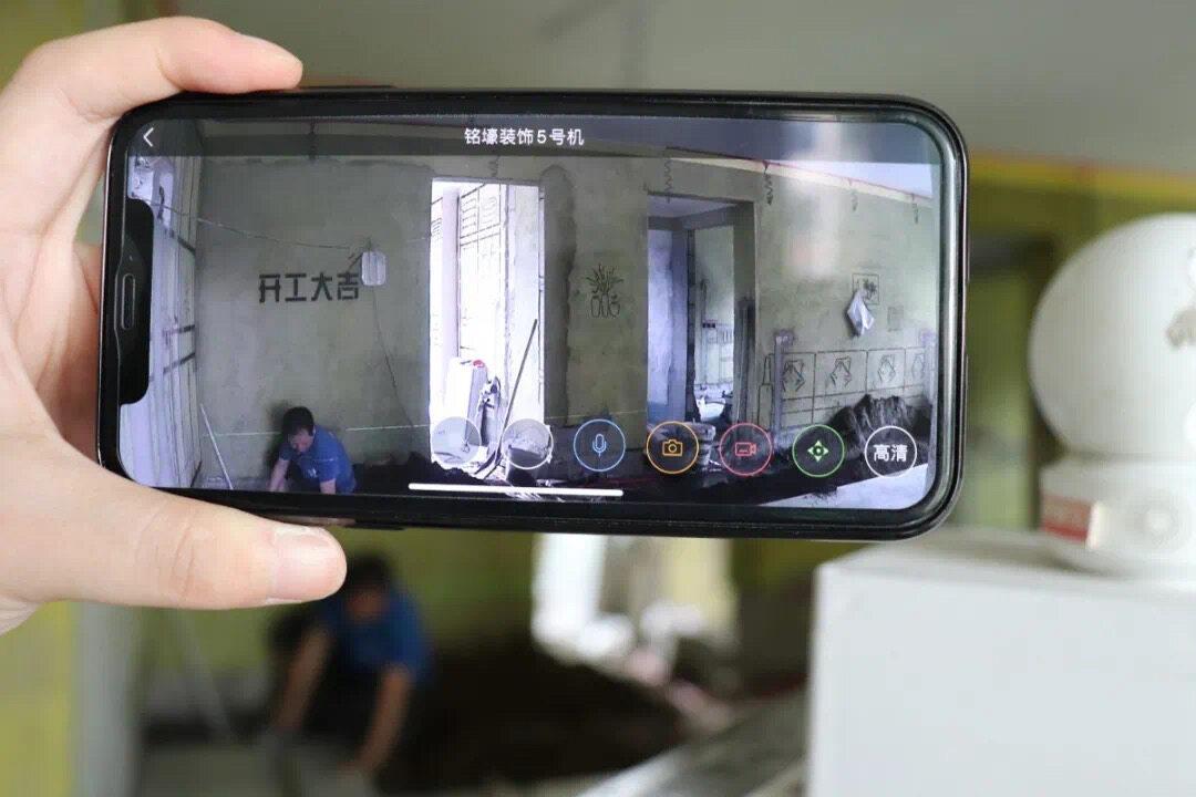 惠州这家装饰公司24小时视频监控施工工地