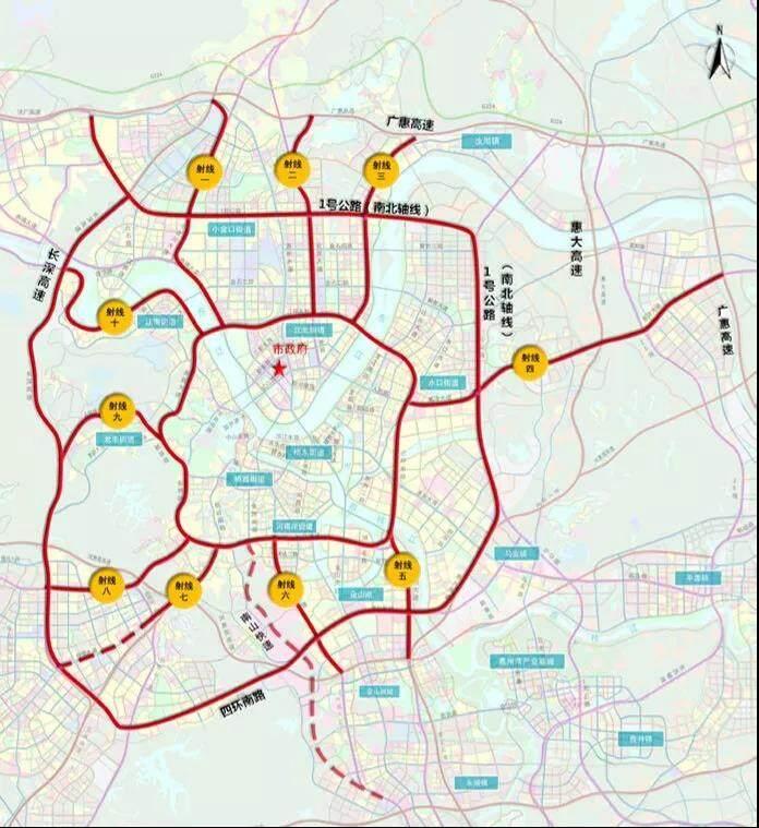 惠城中心区未来或将15分钟联通高速口